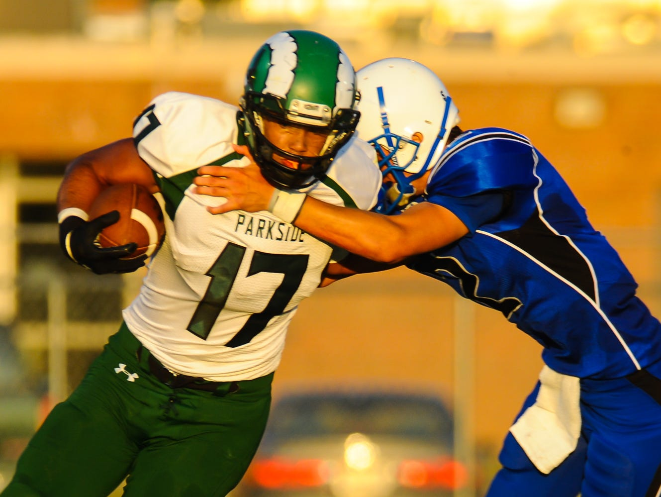 Parkside's Malcom Downing was chosen to the First-Team Defense for the Bayside Conference Football Awards.