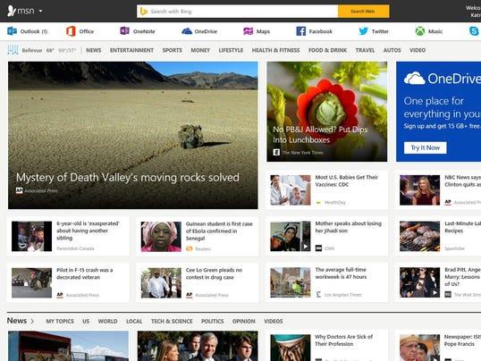 msn news page