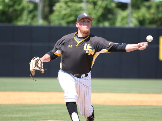 Southern Miss reliever Luke Lowery delivers a pitch to the plate against Western Kentucky on Sunday at Pete Taylor Park.