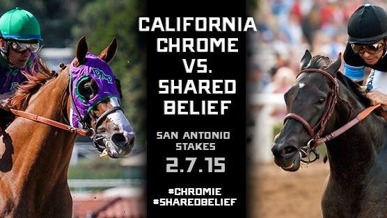 California Chrome and Shared Belief will face each other in a rematch of two of last year's top 3-year-olds