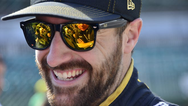 FILE --- James Hinchcliffe, pictured on Carb Day earlier in 2016, is participating in 'Dancing With the Stars'