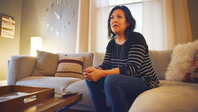 Amber Mauricio talks about an incident involving her son at Patrick Henry Middle School Friday, Jan. 26, at her home in Sioux Falls.