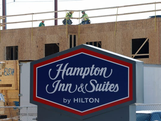 The 101-room Hampton Inn & Suites, which opened 1 1/2
