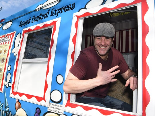 Michael Fertucci, owner of Sweet Central Express, a food truck specializing in homemade frozen custard, pictured in his truck at his Lagrangeville home.