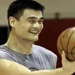 Yao Ming works out with the Rockets, file photo