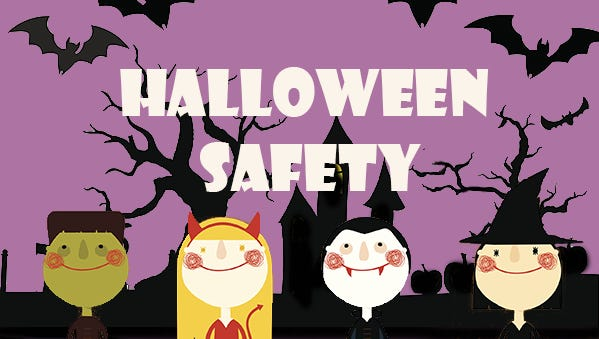 tips to stay safe on halloween