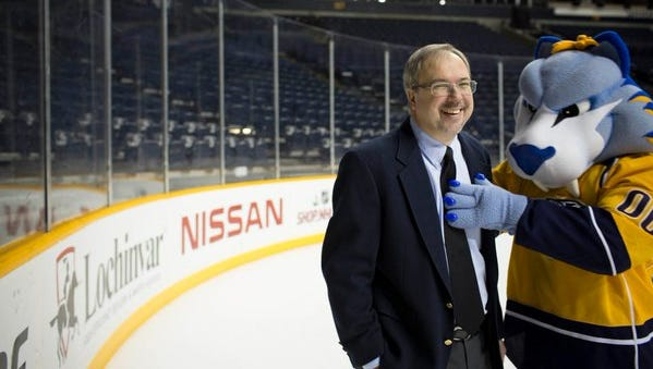 Dave Ammenheuser will host Tennessean Insiders for a suite night at a Preds game on March 30, 2017.