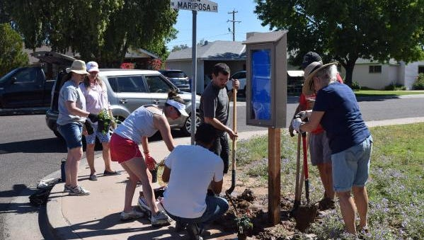 The Grandview Neighborhood Association in Phoenix installed low-tech message boards to keep neighbors posted on important events and announcements.