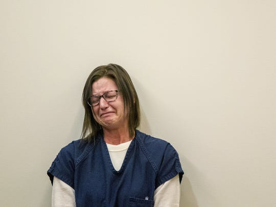 Kristina Ryl reacts as she listens to victim impact