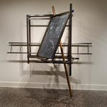 A gallery view of the artwork by Andrew Lyght, on view at the Samuel Dorsky Museum of Art Gallery in New Paltz.