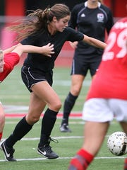 Madison Holleran plays in a Northern Highlands vs.