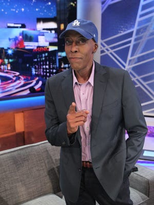 Arsenio Hall on the set of his show.
