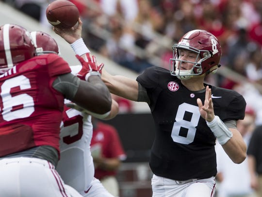 Blake Barnett remains in contention to be Alabama's