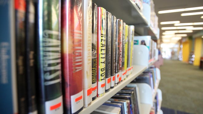 Fiction books are pictured at the East Regional Branch of the Lafayette Public Library, which opened recently on La Neuville Road in Youngsville, La.