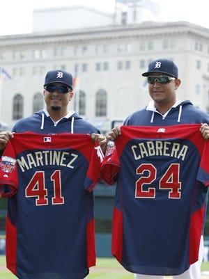 Tigers sluggers Victor Martinez and Miguel Cabrera.