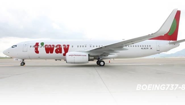 A T'way Air Boeing 737-800