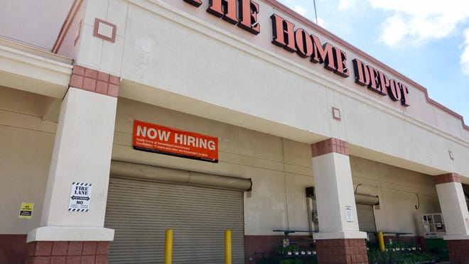 The Home Depot on Palm Beach Lakes Boulevard is closed early Friday afternoon, September 8, 2017. Ahead of Hurricane Dorian in August 2019, the Home Depot on Okeechobee Boulevard west of Florida's Turnpike was evacuated after a customer reportedly threatened to blow up the store.