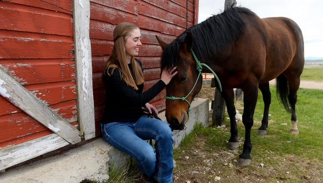 Jessica Horan hangs out with her horse, Star.