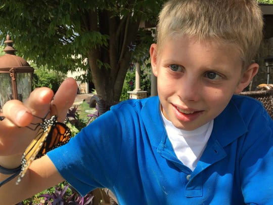 William Bundy celebrated his 12th birthday releasing Monarch butterflies.