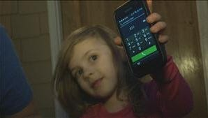 Elisha Powers, 4, learned how to unlock a smartphone and call 911 for help.