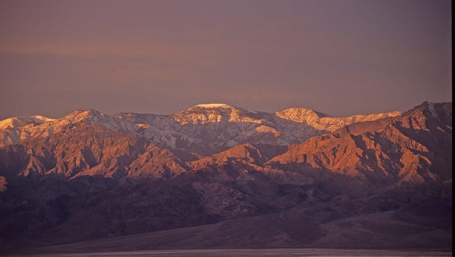 The sun rises on Death Valley National Park.