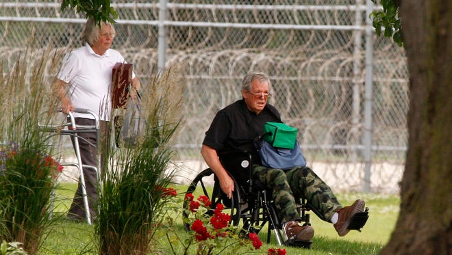 Former House speaker Dennis Hastert reports to the Federal Medical Center in Rochester, Minn., on June 22, 2016, to begin serving a 15-month sentence in a hush money case.