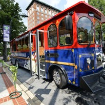 Greenville unveiled this trolley in the summer of 2014.