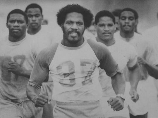 Joe Delaney, shown running with his Kansas City Chiefs teammates in this file photo, was known as a hard worker in college and in the NFL, where he garnered many honors. Delaney was named the AFC's 1981 offensive rookie of the year.