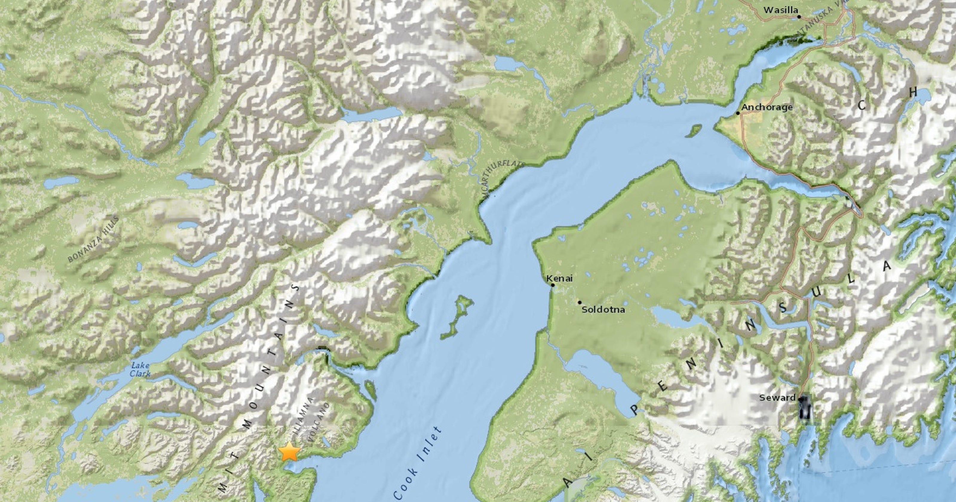 6 3 Magnitude Earthquake Strikes Southern Alaska
