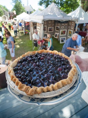 Scene from a past Blueberry Fair in Kennebunk.