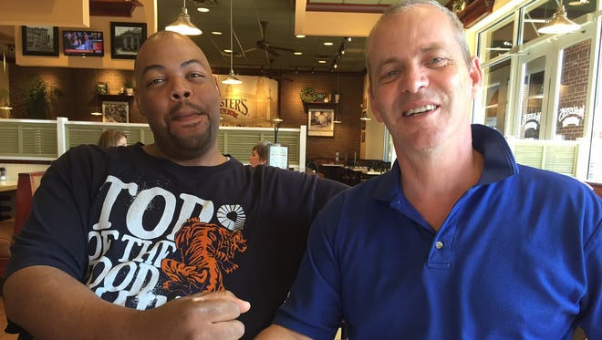Richard Walters, right, gave one of his kidneys to Tony Davis, left, even though the two hardly knew each other.