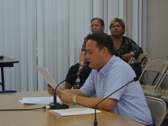 William D. Nault speaks at his confirmation hearing for his appointment as a Guam Visitors Bureau board member at the Guam Legislature in Hagåtña on Feb. 1, 2017.