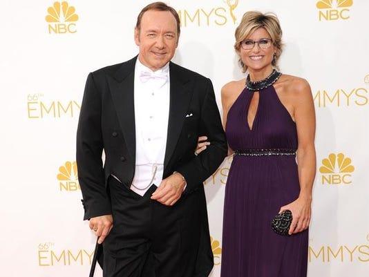 Kevin Spacey with his cane