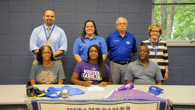 Polk County's Tameeia Brown has signed with the Western Carolina University track program.