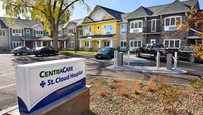 The St. Cloud Hospital Gorecki Guest House across the street from St. Cloud Hospital Thursday is a place for patients and family members to stay who are receiving medical care at the hospital.