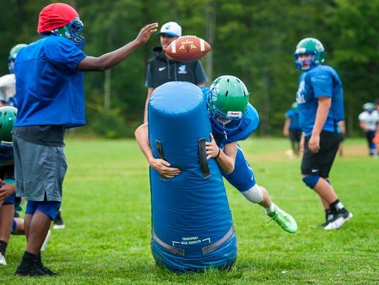 Colchester High School football player Bailey Olson