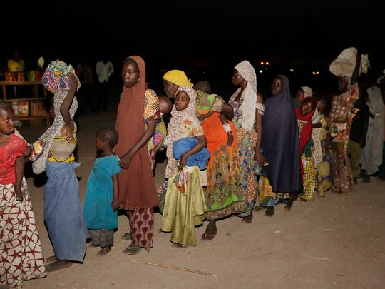 Women and children rescued by Nigeria soldiers from