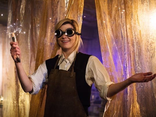 "The Doctor (Jodie Whittaker) on ""Doctor Who."""