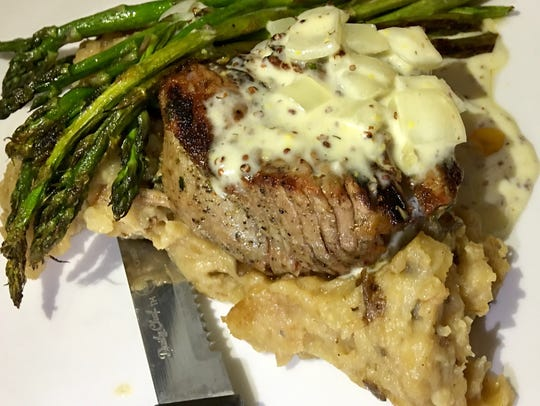 Filet mignon at Islands Fish Grill served with smokey