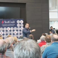 Presidential candidate Ted Cruz, a Texas Republican and U.S. senator, greeted attendees after speaking during a town hall event in Coralville, Iowa, on Nov. 30, 2015.