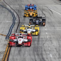 Helio Castroneves was a quick starter on starts and restarts Sunday in Long Beach, Calif.