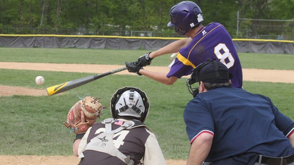 Clarkstown South baseball beat Clarkstown North 15-4 at South May 10, 2016.