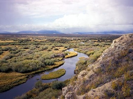 The Tongue River passes through rangeland in southeast