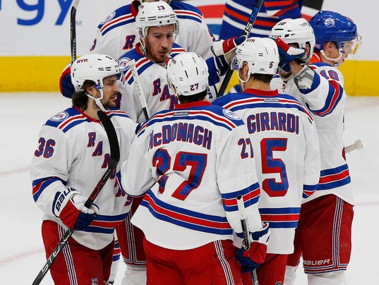 USP NHL: NEW YORK RANGERS AT EDMONTON OILERS S HKN CAN AL