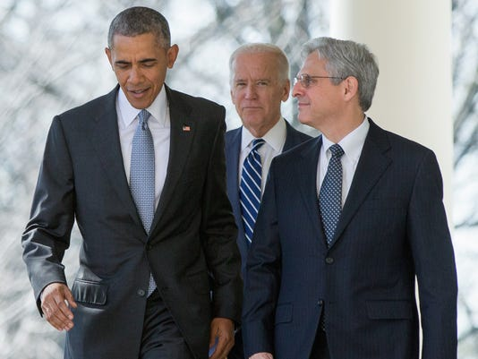 Barack Obama, Joe Biden, Merrick Garland