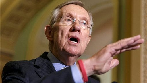 Harry Reid of Nev. speaks on Capitol Hill in Washington in this file photo.
