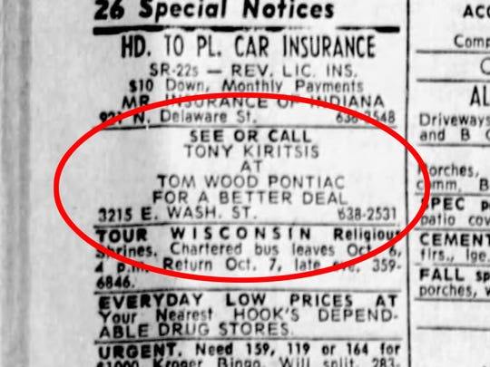 This was the first of a half-dozen classified ads Tony