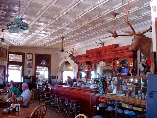 The interior of the Jersey Lilly preserves some of