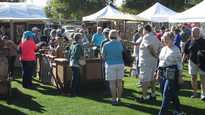 A crowd at a past Surprise Fine Arts & Wine Festival, produced by Thunderbird Artists.