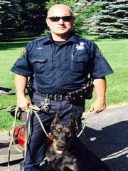 Fowlerville Police K-9 Officer Jeff Soli and his partner,